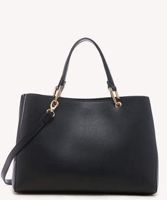 Sole Society Women's Layla Satchel Vegan Leather In Color: Black Bag From
