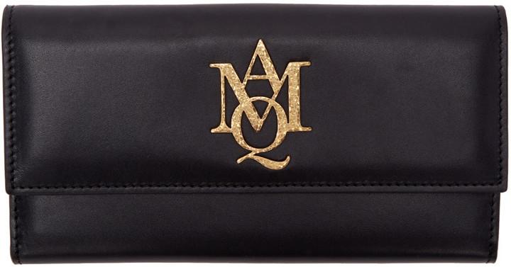 Alexander McQueenAlexander McQueen Black Insignia Wallet