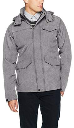 Ben Sherman Men's Hooded Softshell Outerwear Jacket