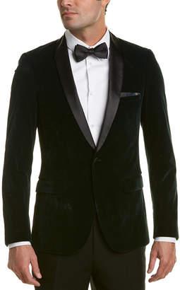 Paisley & Gray Regent Slim Fit Shawl Velvet Tuxedo Jacket