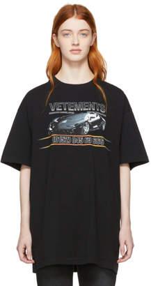 Vetements Black Car Hotline T-Shirt