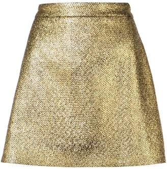 Milly metallic mini skirt