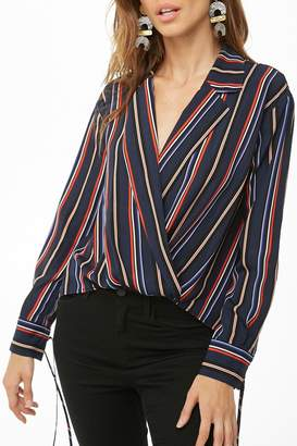 Forever 21 Striped High-Low Top