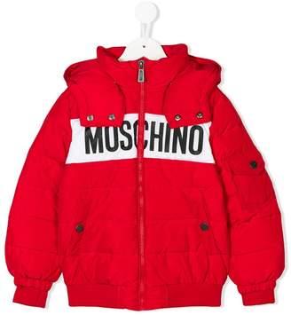 Moschino (モスキーノ) - Moschino Kids ロゴ ダウンジャケット