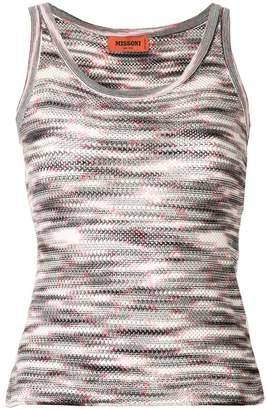 Missoni patterned knit vest top