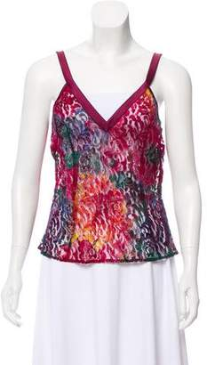 Dolce & Gabbana Sheer Lace-Accented Camisole w/ Tags