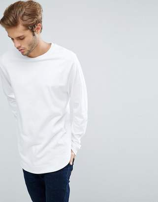 Asos Longline Sweatshirt With Curved Hem