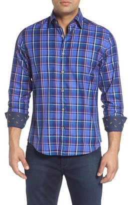 Men's Stone Rose Slim Fit Dobby Plaid Sport Shirt $165 thestylecure.com