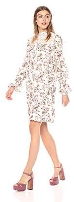 Wild Meadow Women's Floral Boho Lace Yoke Dress XS