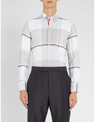 Thom Browne Checked regular fit cotton-oxford shirt