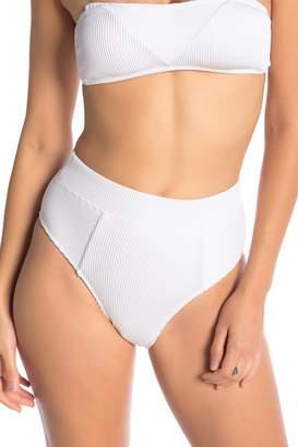 Bikini Lab The Rib-Thym High-Waist Bikini Bottoms