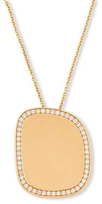Roberto Coin Golden Jade 18K Rose Gold Polished Pendant Necklace w/Pave Diamonds