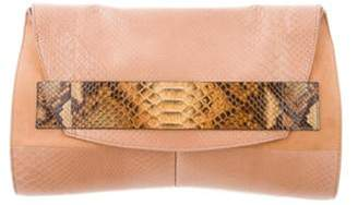 Narciso Rodriguez Oversize Python Clutch Tan Oversize Python Clutch