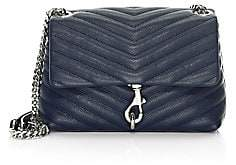 Rebecca Minkoff Women's Edie Quilted Chevron Leather Crossbody Bag
