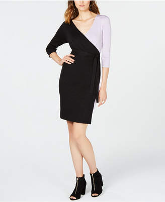 INC International Concepts I.n.c. Petite Colorblocked Sweater Dress, Created for Macy's
