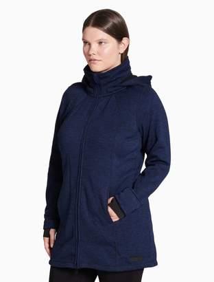 Calvin Klein plus size performance melange walker jacket