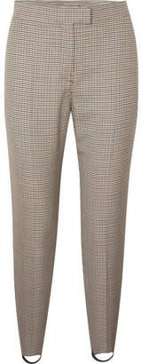 Burberry Checked Wool-blend Slim-leg Stirrup Pants