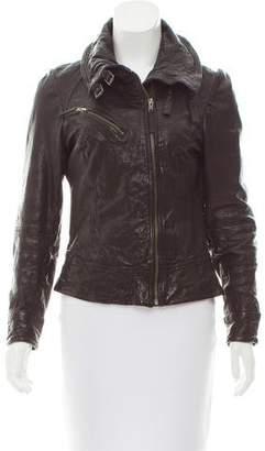 AllSaints Leather Zip-Up Jacket
