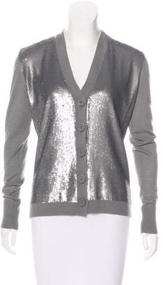 Tory Burch Embellished Wool Cardigan
