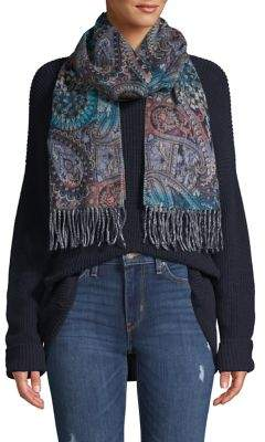 Lord & Taylor Paisly Cashmink Scarf
