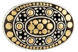John Hardy Two-Tone Dot Jaisalmer East-West Ring