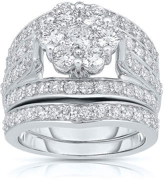 JCPenney MODERN BRIDE 3 CT. T.W. Diamond 14K White Gold Bridal Ring Set