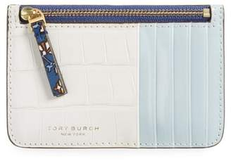 Tory Burch Colorblock Leather Card Case