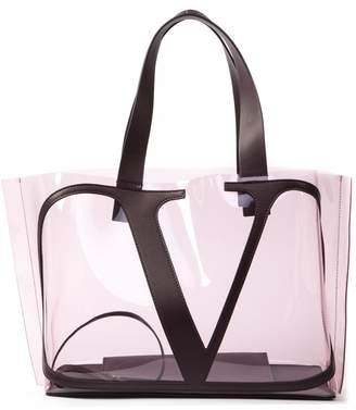 Valentino Garavani Small Vlogo Tote Beach Bag