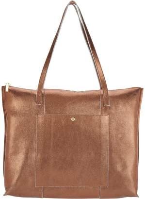 G.I.L.I. Got It Love It G.I.L.I. Unlined Leather Zip Top Tote