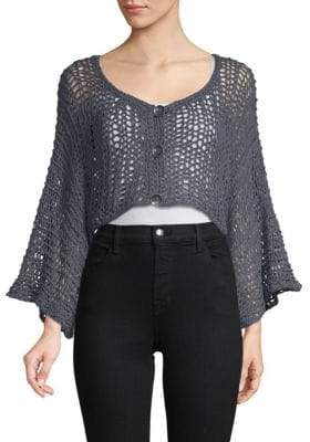 Free People Free Love Linen-Blend Shrug