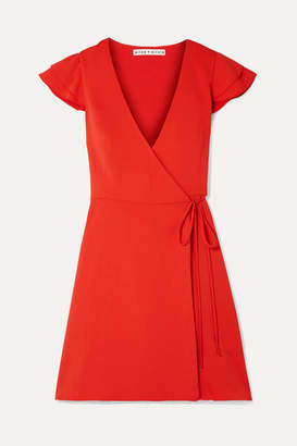 Alice + Olivia Alice Olivia - Doralee Crepe Wrap Dress - Red