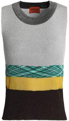 Missoni Paneled Knitted Top