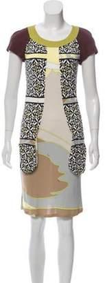 Emilio Pucci Abstract Print Mini Dress Lime Abstract Print Mini Dress