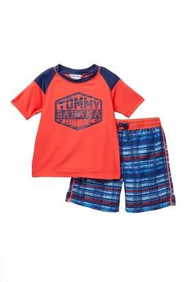 Tommy Bahama Rashguard & Board Shorts Set (Toddler Boys)
