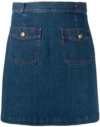 Gucci denim mini skirt