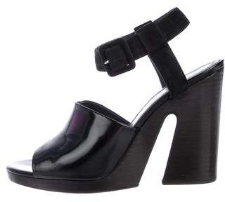 Celine Leather Ankle-Strap Sandals