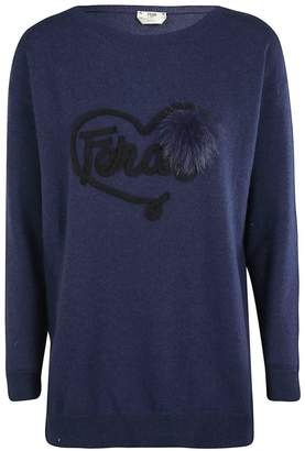 Fendi Logo Patch Sweater
