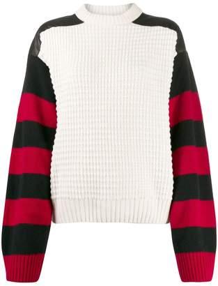 Haider Ackermann Invidia striped sleeve jumper