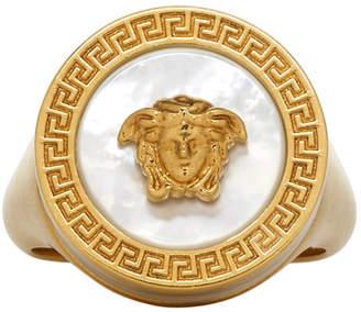 Versace Gold Medusa Pearl Ring