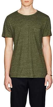 Barneys New York Men's Linen-Blend T-Shirt - Olive