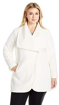 Lark & Ro Women's Plus Size Single Button Jacket