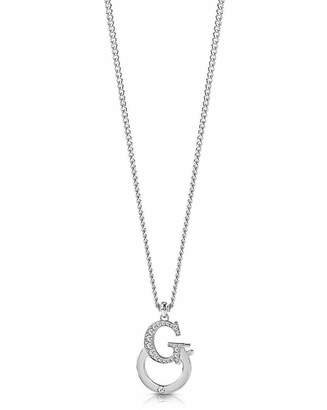 GUESS Logo Charm Necklace