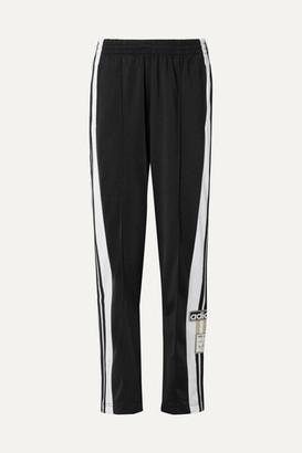 adidas Adibreak Striped Satin-jersey Track Pants - Black