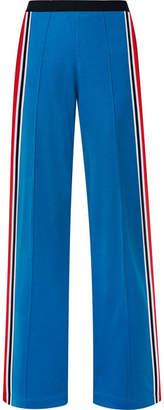 Tory Sport Striped Stretch-jersey Track Pants - Blue