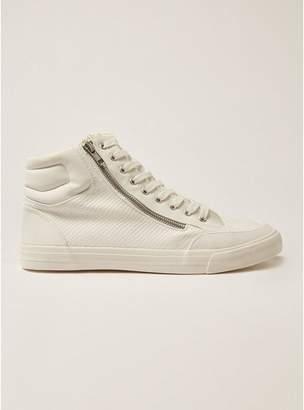 Topman Mens White Wheeler Hi Top Sneakers