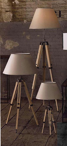 Roost Transit Table and Floor  Lamp - Pine