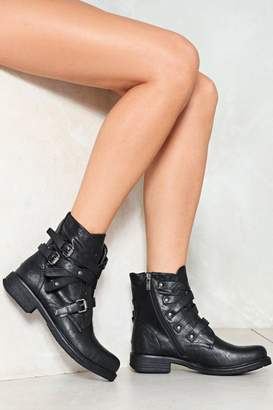 Nasty Gal Ghost Rider Vegan Leather Boot