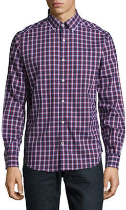 Nautica Classic Fit Wrinkle-Resistant Plaid Poplin Shirt