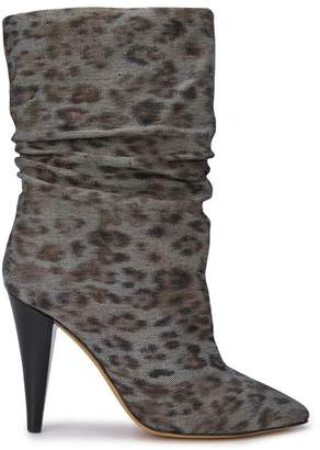IRO heeled animal print boots
