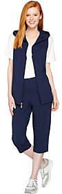 Denim & Co. Active French Terry Vest & CapriPants Set